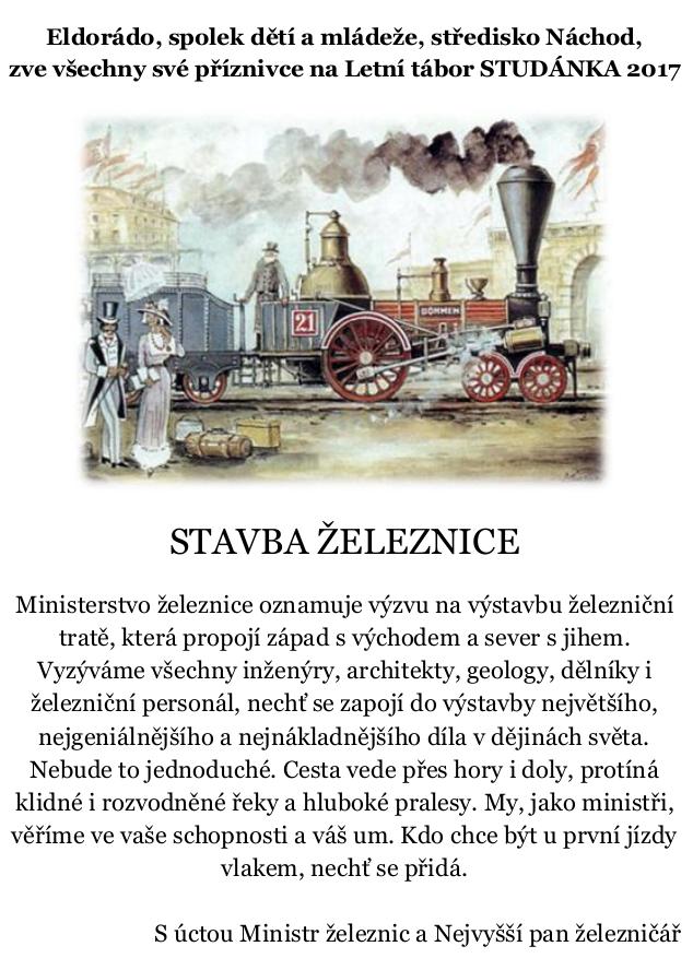Stavba železnice - 2. běh (2017) @ TZ Studánka | Vernéřovice | Královéhradecký kraj | Česko